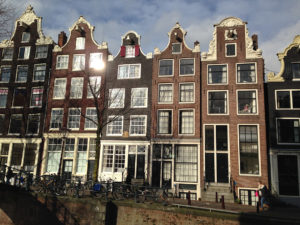 Golden Age canal houses on Brouwersgracht in Amsterdam