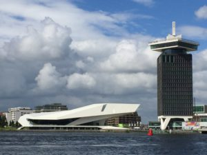 Talk & Walk: EYE Film Institute by Delugan Meissl and Adam Tower by Claus en Van Wageningen in Amsterdam