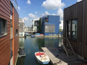 IJburg: individual floating houses on Steigereiland