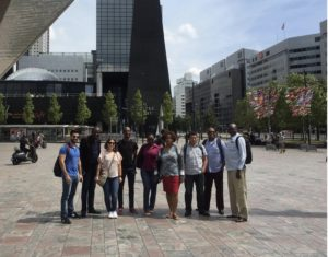 International architecture tour group in Rotterdam