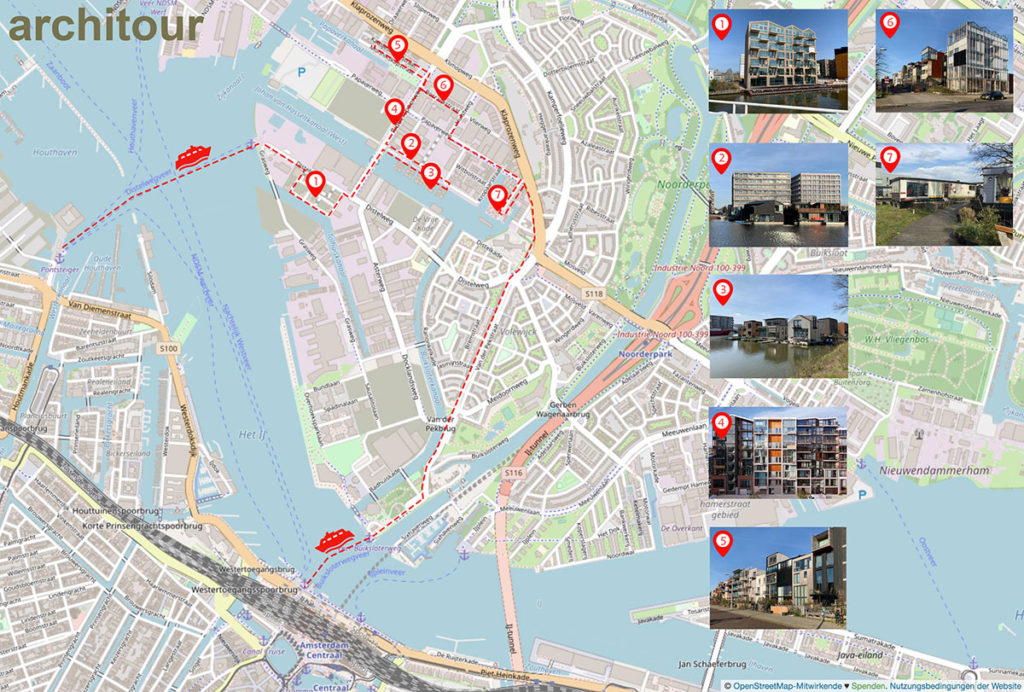 Map of Virtual Tour in Buiksloterham